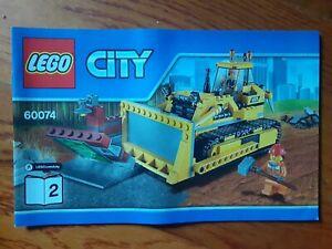 LEGO CITY MANUAL MANUAL INSTRUCTION BOOK  60074 LEGOS!