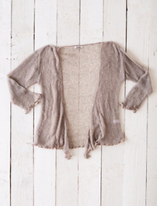 Fair Trade Loose Knit Fawn Gringo Shrug, One Size 6 to 20 from Wyestyles