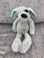 """Tesco Cuddle Me SOFT PLUSH GREY PUPPY DOG  STRIPEY EARS BABY HUG TOY 14.5"""""""