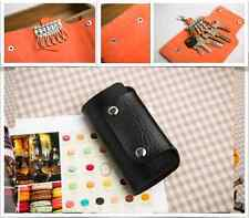 UP to 2x PU Leather Key Wallet Holder Purse Pouch Organiser Keyrings  FAST POST