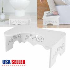 "7"" MDF Toilet Squatty Step Stool Bathroom Potty Squat For Toilet Proper Posture"