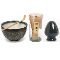 Japanese Matcha Whisk Chashaku Tea Scoop Bowl Kit Ceramic Japan Tea Ceremony Set