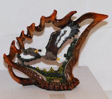 Bald Eagle/Elk Horn Figurine