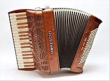Fisarmonica Moreschi meraviglia 96 III, legno di ciliegio, artigianato tradizione dall'Italia