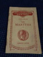 Libro Ancien - Las Mártires por Chateaubriand Hatier Vintage