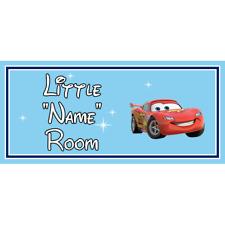Personalised Little Racer Kids Bedroom Door Sign Disney Cars Lightening Mcqueen