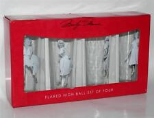MARILYN MONROE Hollywood Star Legend FLARED High Ball JUICE GLASS SET 4 Pcs New