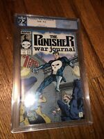 The Punisher War Journal #1 Comic PGX 9.2 NM Marvel 1988 Punisher Origin Rare LE