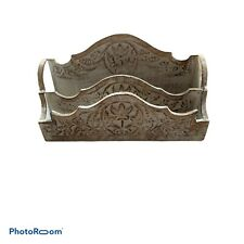 Wooden Farmhouse Letter Mail Holder Made in India
