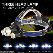 Zoom 15000LM 3X XM-L T6 LED Rechargeable 18650 Headlamp Headlight Light Torch