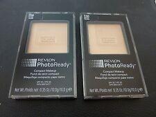 Revlon PhotoReady Compact Makeup - VANILLA  #100 - TWO - Both New / Sealed