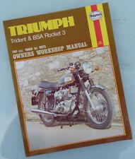 Triumph Motorcycle Manual 1969-1975 Rocket Three 3 & Trident T150 750cc Triples