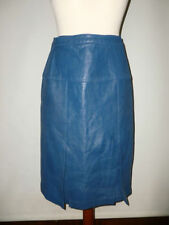 Knee Length Leather Unbranded A-line Skirts for Women