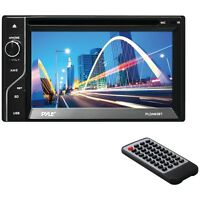 """NEW Pyle Pro Pldn63bt 6.5"""" Double-din In-dash Lcd Touchscreen Dvd Receiver"""