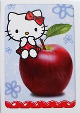 Hello Kitty blank card, apple theme, Birthday, say thank you, good luck etc, new