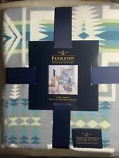 Pendleton Grey Multicolor Aztec 50x70Harding Luxe Throw Blanket New With Tags