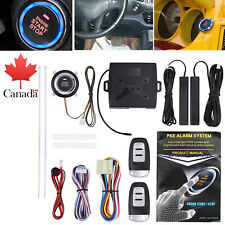 Car Keyless Entry Engine Start Alarm System Push Button Remote Starter Universal
