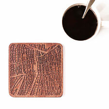 Santiago de Chil map coaster One piece  wooden coaster Multiple city IDEAL GIFTS