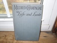 Mildred Champagne on Life and Love 1926 1st edition Vintage Real Love Stories