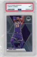 2019-20 Panini Mosaic #8 Lebron James PSA 9 Graded Basketball Card