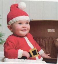 Knitting Pattern Baby Santa Father Christmas Hat & Jumper Knitting Pattern