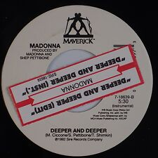 MADONNA: Deeper and Deeper USA 1992 Maverick 45 w/ Juke Box Strip NM-