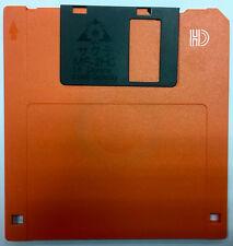 "New Double Sided High Density Floppy Disk 3 1/2"" Orange 2HD MF-2HD 2.0MB Japan"