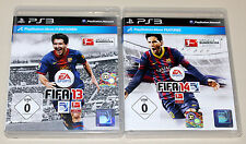 2 PLAYSTATION 3 giochi Set-FIFA 13 & FIFA 14-CALCIO SOCCER FOOTBALL ps3 15