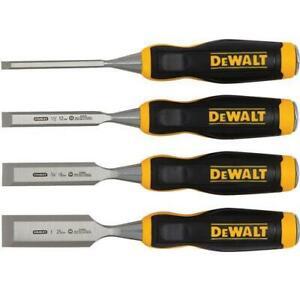 DeWALT DWHT16063 4-Piece Short Blade Wood Chisel Chisels Set - Chiseling