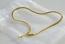 "Wide Ankle Bracelet 2.9 gr 14k Solid Gold 10"" Long 3mm"