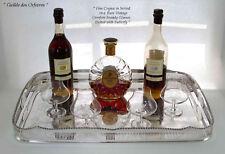 Gallery Tray & Vintage Orrefors Set of 4 Brandy Glasses, Unusual Shape