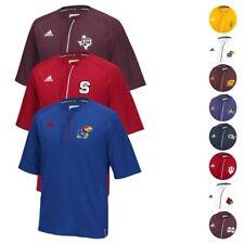 NCAA Adidas para hombre Sideline Performance Climalite 1/4 Cremallera Camiseta Tejido (XS-5XL)