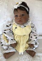 """Lee Middleton Reva Doll, """"Bunny Dreams"""" Dark Skin Girl COA original  box"""