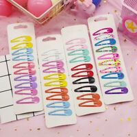Lots 10Pcs/Set Candy Color Kid Girl Hairpin BB Snap Hair Clips Hair Accessories