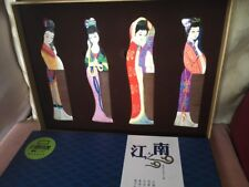 Chinese Four Beauties Comb Set Beautifully and Colourfully Detailed With Box