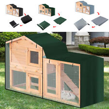 Outdoor Pet Cage Protector Bunny Rabbit Hutch Cover 210D Oxford Cloth Dustcover