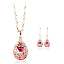 Rose Gold Plated Pink Fashion Jewellery Sets