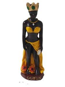 "4.5"" Orisha Oshun Statue Ochun Snteria Yoruba Lucumi 7 African Powers"