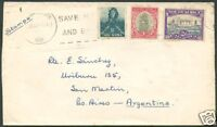 BRITISH SOUTH AFRICA TO ARGENTINA Old Cover VF