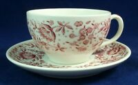 Syracuse MAYFLOWER RED Cup & Saucer Carefree Line GREAT CONDITION