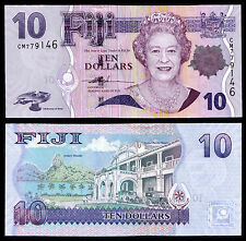 FIJI 10 DOLLAR (P111a) N. D. (2007) QEII UNC