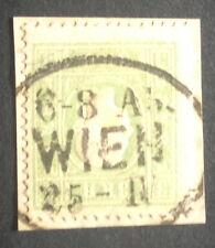 ;timbre autriche, n°13, 3kr vert, Obl, TB, cote 225e.