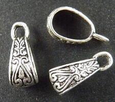 60pcs Tibetan Silver Beautiful Bails 17.5x10mm  A68-11995