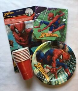 Spiderman Party Supplies Tableware Bundle