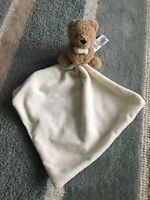 M&S Marks And Spencer Teddy Bear Comforter 04340515 cream blankie soft toy