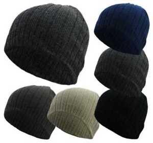 Unisex Men's Knitted Ribbed Skull Winter Warm acrylic ski Beanie Hats Gift Xmas