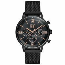 Cerruti 1881 Mens Gents Black Designer Wrist Watch CRA23406