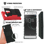 For Sony Xperia XA1 G3121 New Shock Proof Builder Stand Phone Case Cover + Glass