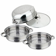 Stainless Steel 3 Tier Steamer Food Induction Steaming Pot Dim Sum Cookware Stea