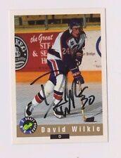 92/93 Classic Draft David Wilkie Kamloops Blazers Autographed Hockey Card